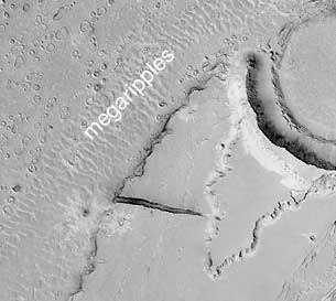 Megaripples in Athabasca Vallis, Mars.