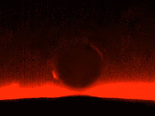 The arc of Venus photographed in 2004.