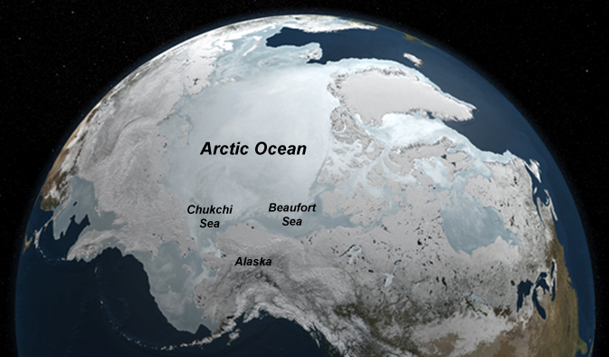 map of Arctic Ocean area