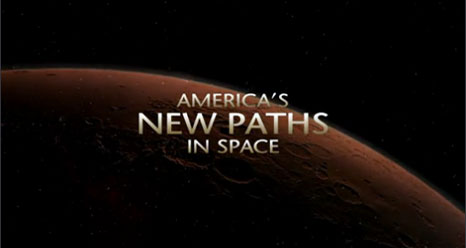 Title screen from America's New Paths in Space video