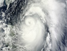 Typhoon Mawar was captured by MODIS instrument on June 3, 2012 at 0220 UTC.