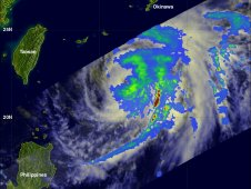 TRMM shows that Mawar had a distinct eye on June 4, 2012 before high clouds began to cover it.