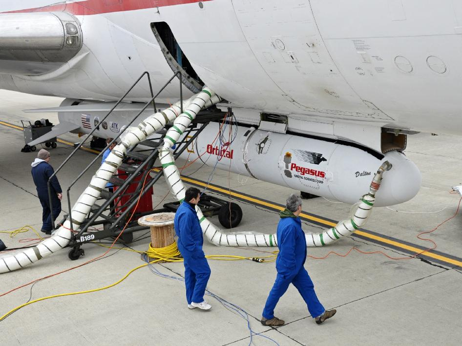 Orbital Sciences Corporation Pegasus XL rocket with the NuSTAR spacecraft