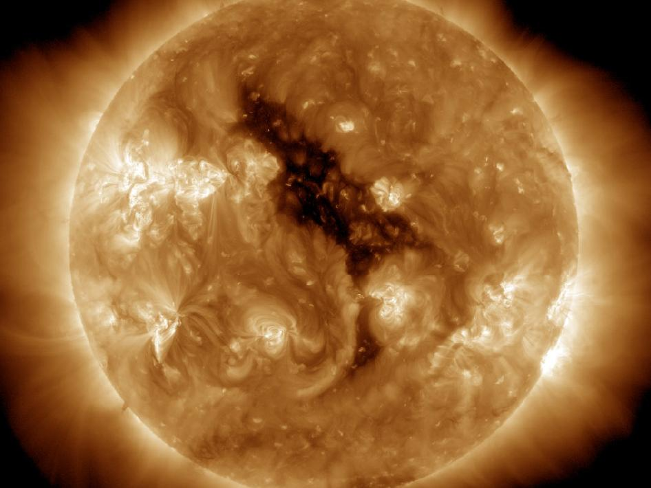 Coronal Hole on the Sun