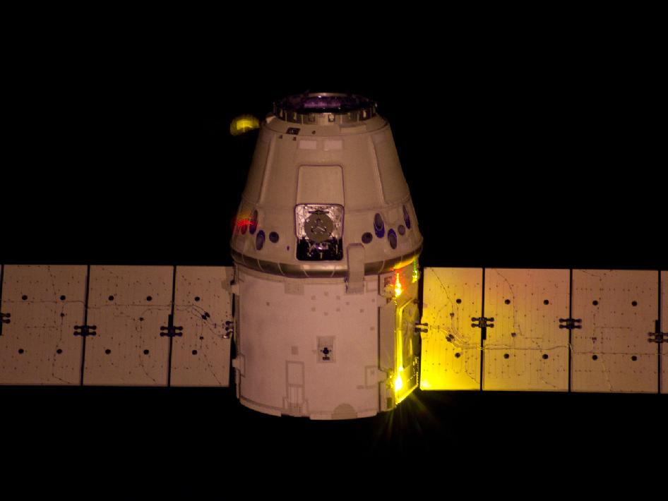 The SpaceX Dragon cargo craft