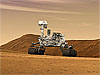 Artist's concept of Mars Science Laboratory rover on Mars