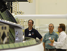 Retired Apollo engineer James Murphy tours the O&C