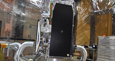 The NuSTAR spacecraft on workstand
