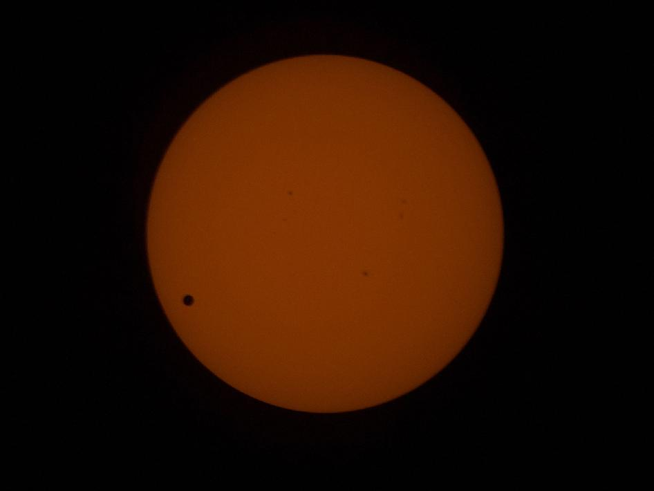 Transit of Venus Across the Sun