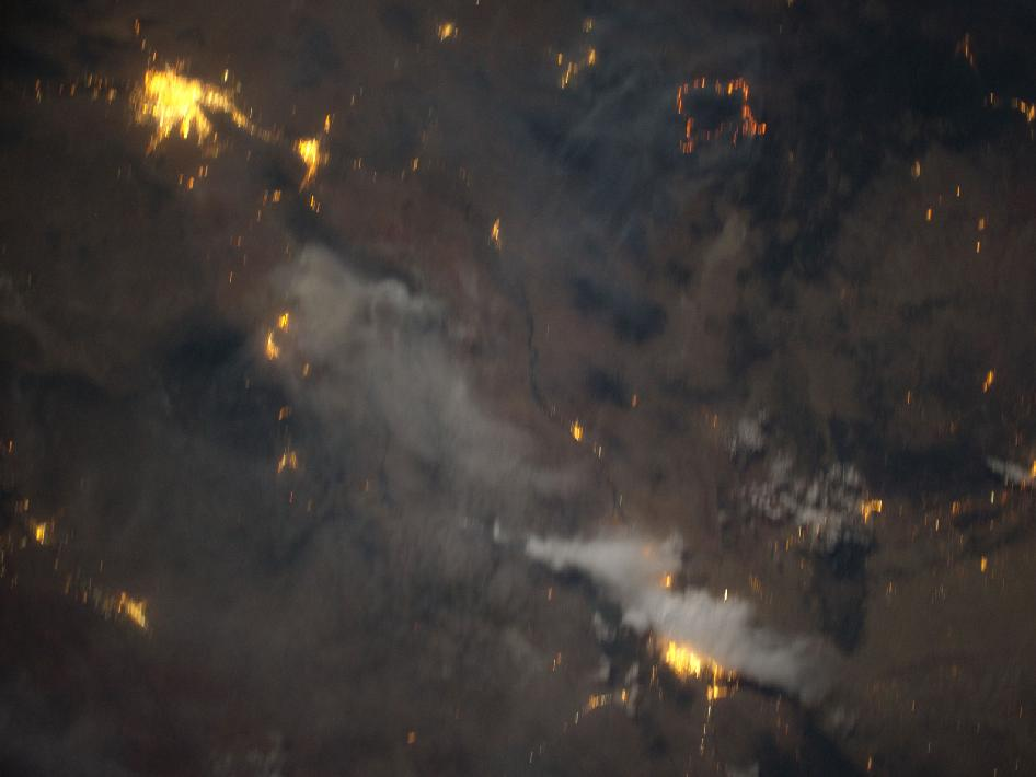 The flame ring associated with wild fires in the Southwest