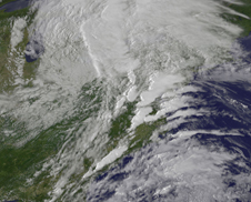satellite image of severe weather over Maryland