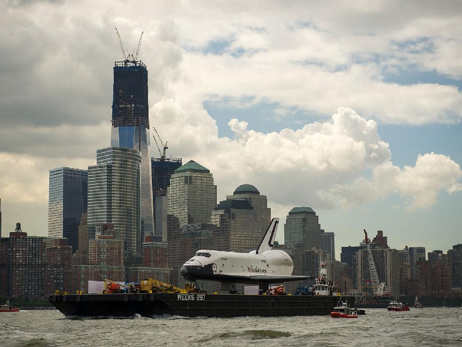 Enterprise is sailed by the Freedom Tower