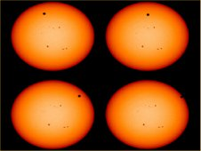 Transit of Venus across the face of the Sun, as seen from the Solar Dynamics Observatory. (NASA)