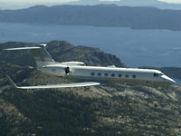 NASA Gulfstream G5 during synthetic vision systems tests