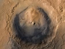 Destino Gale cratera em agosto de 2012