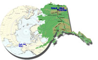 map showing the location of Toolik Field Station in Alaska