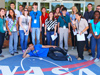 Students from Brevard Country high schools gathered for a group photo in front of the Headquarters Building at Kennedy Space Center, May 11, during the Brevard Top Scholars Day sponsored by the center's Office of Education.