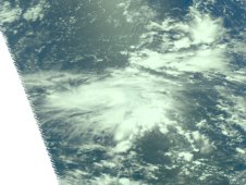 AIRS passed over Tropical Storm Guchol on June 12 and captured a near-infrared image of the storm.