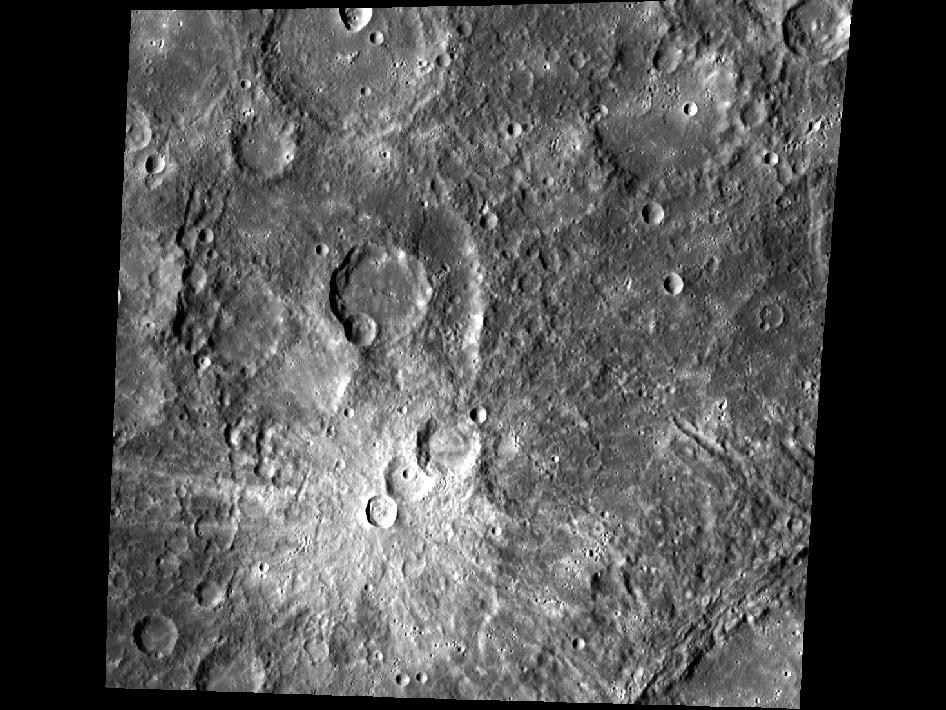 Image from Orbit of Mercury: Snowmen on Mercury?