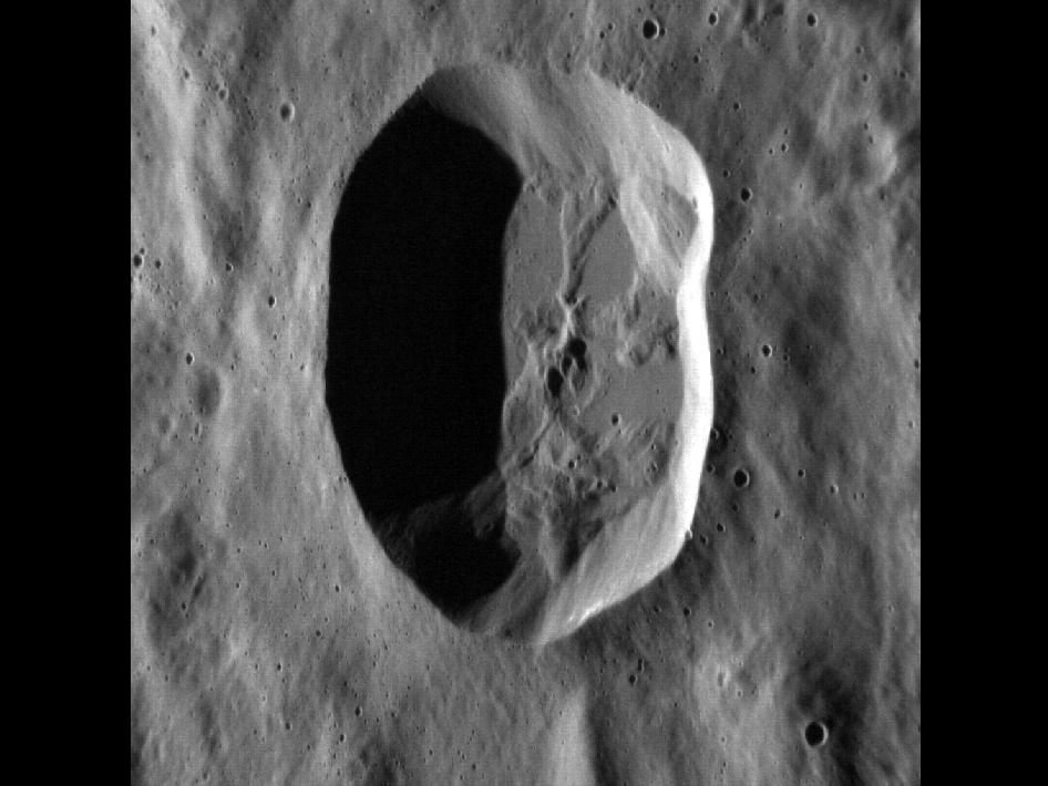 Image from Orbit of Mercury: Is this Crater Circular?