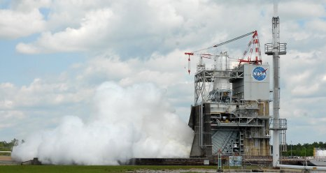 June 13, 2012 J2X engine test at Stennis Space Center
