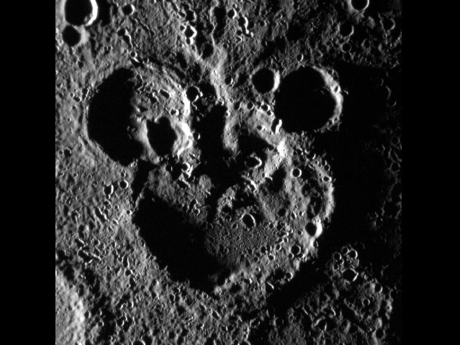 Image from Orbit of Mercury: Mickey Mouse Spotted on Mercury!