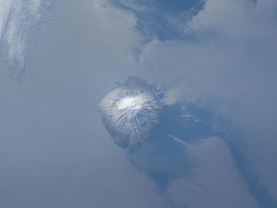 Alaid Volcano in the Kuril Islands