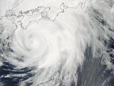 MODIS captured this image of Tropical Storm Guchol approaching Japan on June 19 at 03:55 UTC
