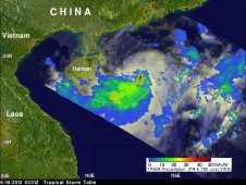 On June 18, 2012 TRMM saw Tropical Storm Talim forming in the South China Sea east of Hainan Island, China.