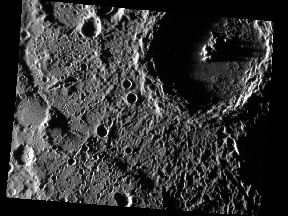 Image from Orbit of Mercury: Craters Down Under