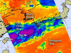 AIRS captured this infrared image of Tropical Depression Talim on June 21 at 3:29 a.m. EDT.