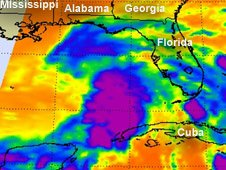 System 96L became Tropical Storm Debby on June 23 as she continued to organize and strengthen.