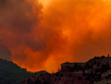 photo of Waldo Canyon Fire smoke