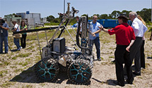 In-Situ Resource Utilization rover testing.
