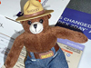 Smokey Bear stuffed toy