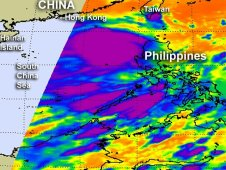 AIRS captured this infrared image of Doksuri on June 28 at 1729 UTC northwest of Luzon, Philippines.