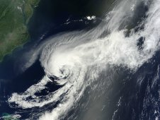 MODIS captured this visible image of the remnants of Debby over the Atlantic Ocean on June 28, 2012 at 15:20 UTC