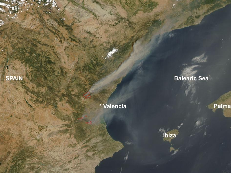 Forest Fires Ravage Eastern Spain