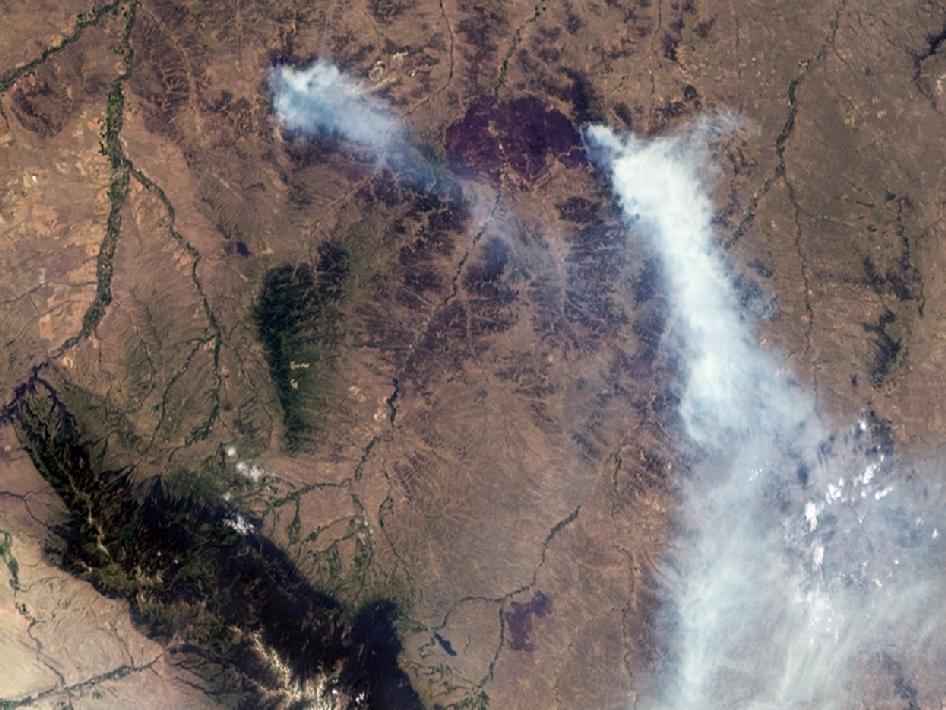 Wildfires in Southeastern Montana