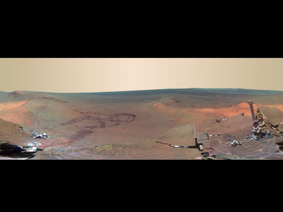 'Greeley Panorama' from Opportunity's Fifth Martian Winter - False Color