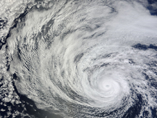 NASA's Terra satellite captured this visible image of Hurricane Daniel in the eastern Pacific on July 8, 2012 at 1920 UTC 3:20 p.m.