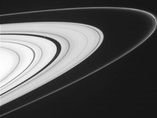 Saturn's outer A ring and the F ring