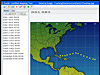 EarthPlus software display of hurricane tracking chart