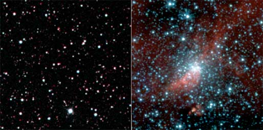 Spitzer observes never-before-seen globular cluster.