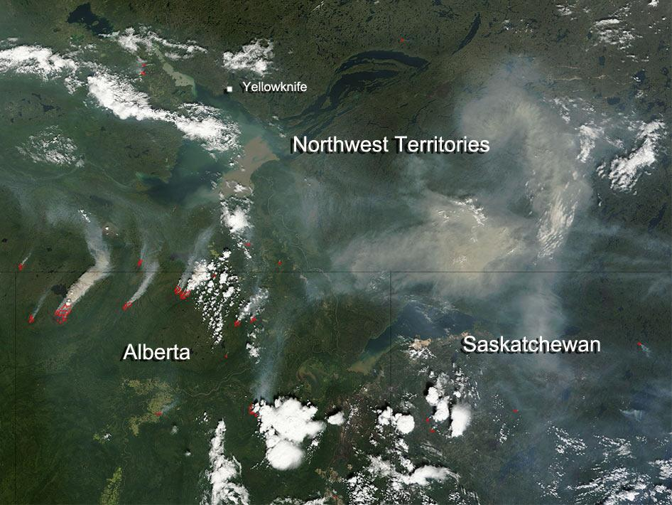 Fires and smoke in Alberta, Canada
