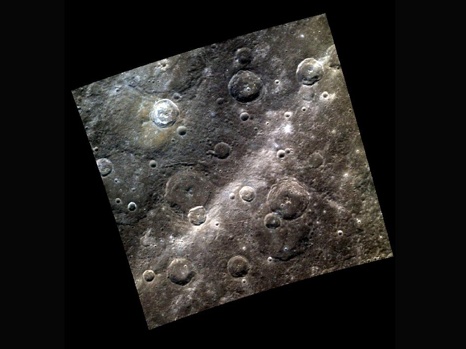 Image from Orbit of Mercury: Rays a Long Way from Home