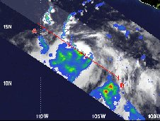 Tropical Depression 06E was seen by the TRMM satellite on July 12, 2012 at 0632 UTC (2:32 a.m. EDT).
