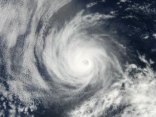 The MODIS instrument on NASA's Aqua satellite captured this visible image of Hurricane Emilia on July 11, 2012.