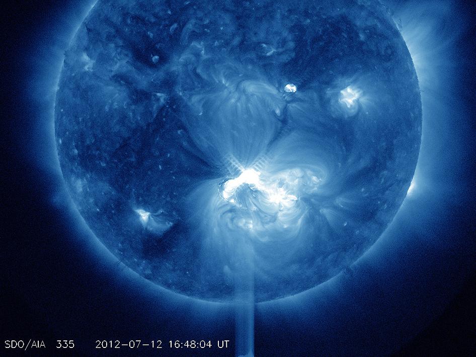 NASA - AR1520 Release X1.4 Class Solar Flare