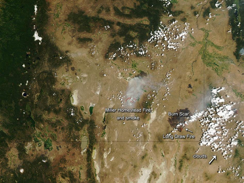 Brush fires in eastern Oregon